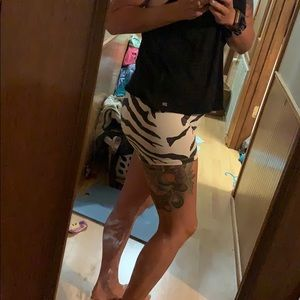 Soffe shorts med zebra print